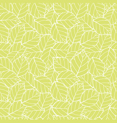 lite green leaves seamless pattern vector image