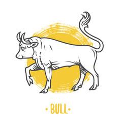 Logo of bull coat of arms heraldry vector