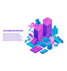 management customer retention concept background vector image