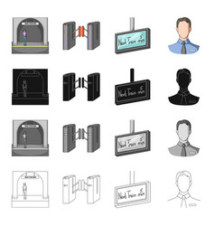 Metropolitan stop man and other web icon in vector
