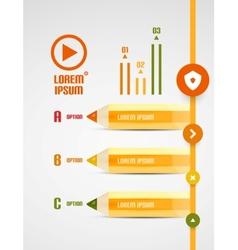 Modern pencil presentation template vector image