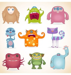 Monsters set2 vector image