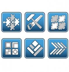 Mosaic materials tools vector