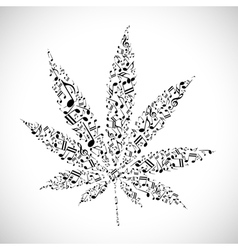 Musical cannabis vector image vector image