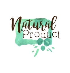 Natural Fresh Products Promo Sign vector image