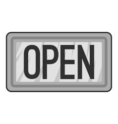 Open plate icon gray monochrome style vector
