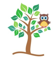 Owl on tree vector