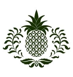 Pineapple icon vector