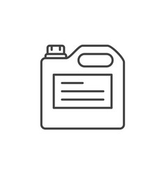 Plastic jerycan concept icon in thin line vector
