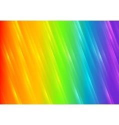 Rainbow shiny blurred stripes background vector