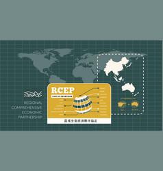 Rcep regional comprehensive economic partnership vector