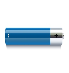 Realistic blue battery icon vector