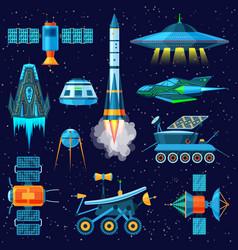 rocket spaceship or spacecraft and vector image