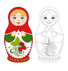russian matryoshka doll vector image