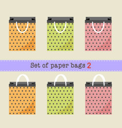 Set of paper bags vector image