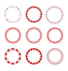 set of round frames in trendy pixel and modern vector image