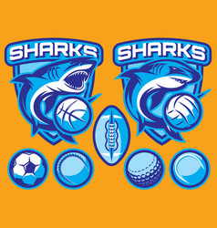 Set of templates for sports badges with vector