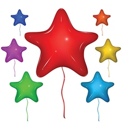 Star Balloon Color set vector image