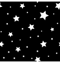 Star seamless pattern Black white retro background vector