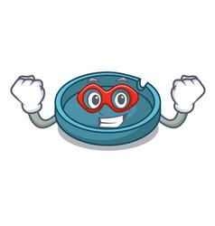Super hero ashtray character cartoon style vector