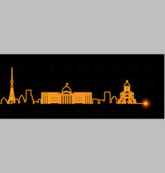 Tbilisi light streak skyline vector