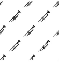 trumpet icon in black style isolated on white vector image
