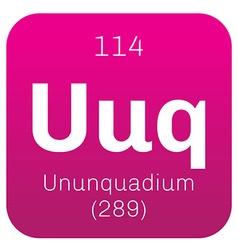 Ununquadium chemical element vector