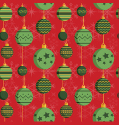 Vintage baubles christmas ornament pattern in flat vector