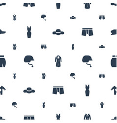 Wear icons pattern seamless white background vector