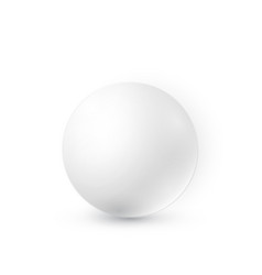 white ball with shadow 3d sphere vector image