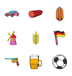bavaria icons set cartoon style vector image vector image