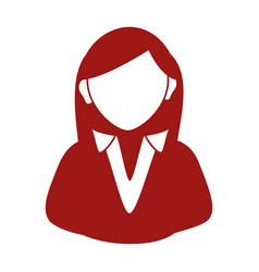 businesswoman avatar silhouette icon vector image vector image