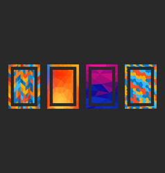 frame modern art graphics hipsters style vector image