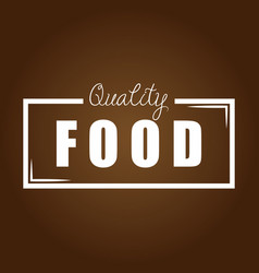 quality food brown background vector image vector image