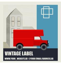 Retro Van Label vector image
