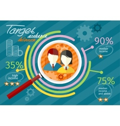 Target audience infographic vector image