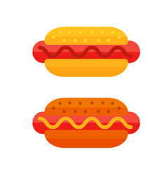 colorful meat sandwich cartoon fast food icon vector image