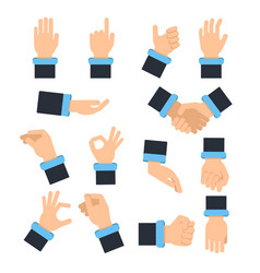 holding hands in different action poses grabbing vector image