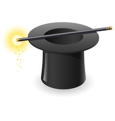 magic wand and hat vector image