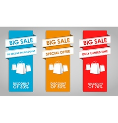 Set of colored banners for sale vector image