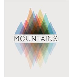 abstract mountain vector image