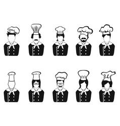 chefs head icon vector image