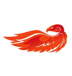 flame phoenix emblem vector image vector image