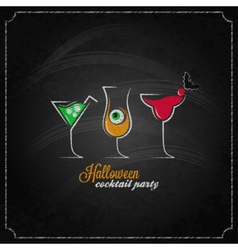 halloween party cocktails menu design background vector image vector image