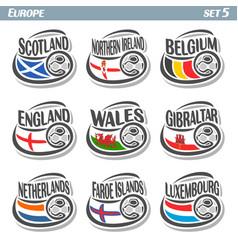 logo for european football ball flag vector image vector image
