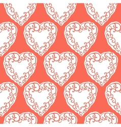 Seamless pattern with decorative doodle ornamental vector image