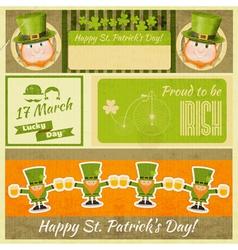 Set of Patricks Day Retro Cards vector image