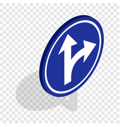 turn right road sign isometric icon vector image