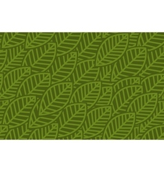 Leaves background pattern vector image vector image