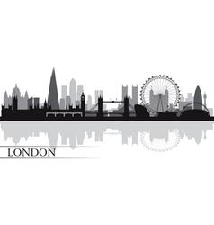 London city skyline silhouette background vector image